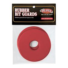 Weaver Red and Black Rubber Bit Guards