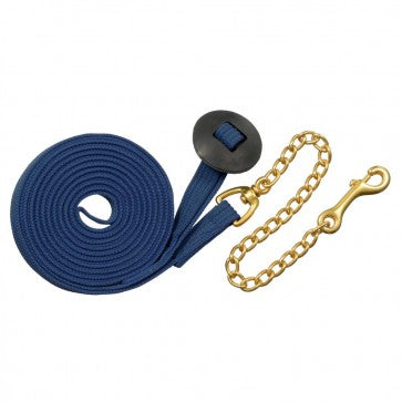 Tough-1 German Cord Cotton Lunge Line w/ Heavy Chain