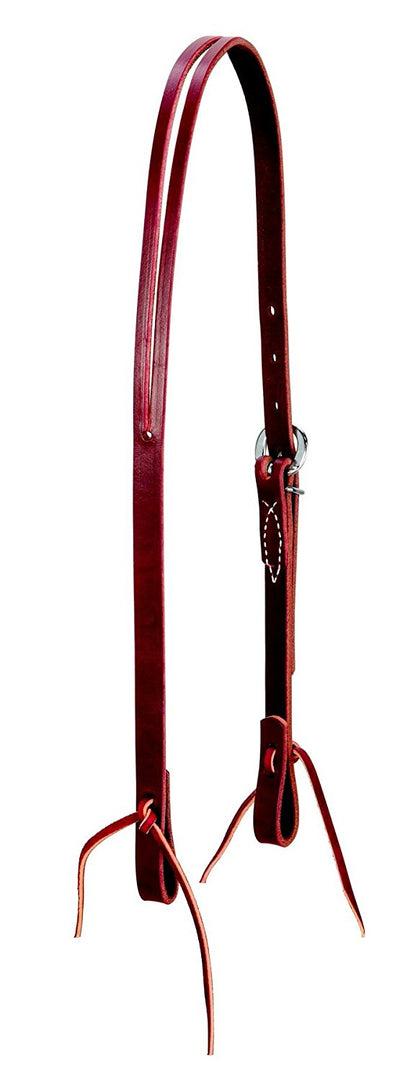 Weaver Leather Latigo Leather Split Ear Headstall Burgundy