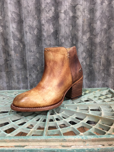 Bed Stu yell tan/teak driftwood booties