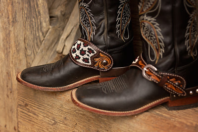 Oxbow Safari Beaded Ladies Spur Straps