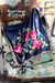 Fiesty Floral Wild Rags - Navy
