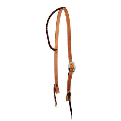 "Partrade 3/4"" Twisted & Tied Leather Braided Slip Ear Headstall"
