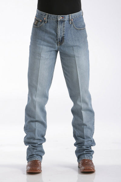 MENS LOOSE FIT BLACK LABEL JEANS - MEDIUM STONEWASH