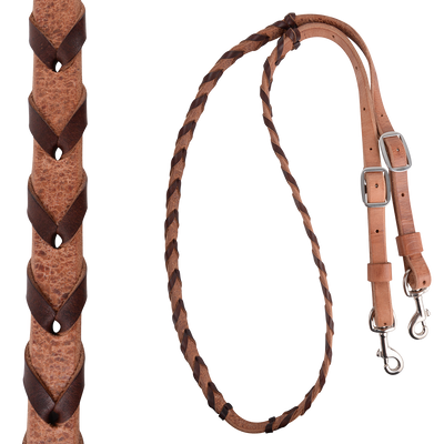 "Martin 5/8"" HARNESS BARREL REIN WITH LATIGO LACING"