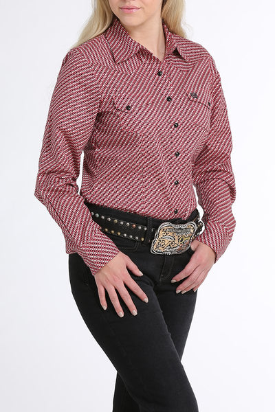 Cinch Women's Pink Geometric Snap Shirt
