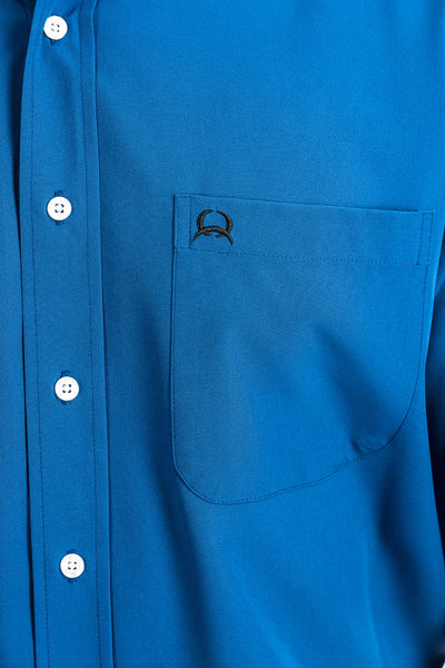 MENS SHORT SLEEVE ARENAFLEX BUTTON-DOWN SHIRT - ROYAL