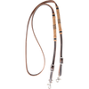 "MARTIN 1/2"" HARNESS ROPING REIN WITH RAWHIDE KNOTS"
