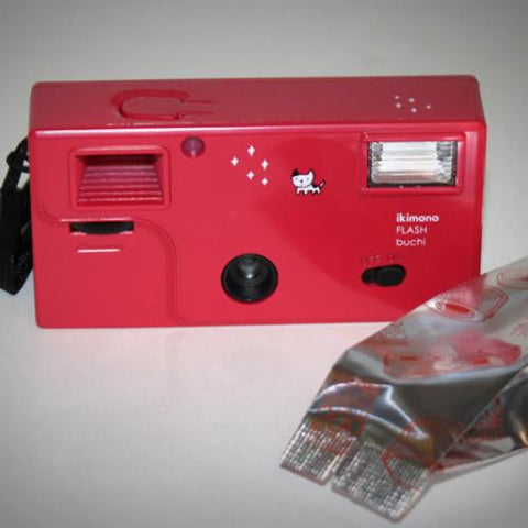 Film Camera - 110 Ikimono w/ Flash and Film (red)