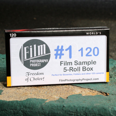 120 #1 Film Sampler Box (5-Roll Box / BW and Color)