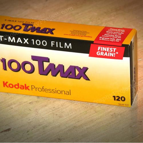 120 BW Film - Kodak T-Max 100 (5-Pack Box)