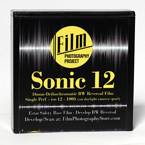 16mm Film - Single Perf - FPP Sonic12 BW Reversal - 100 ft