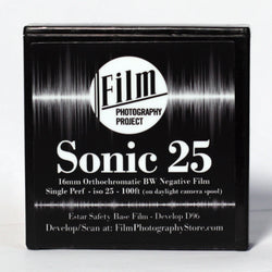 16mm Film - Single Perf - FPP Sonic25 BW Negative - 100 ft