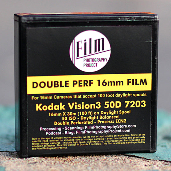 16mm Film - Double Perf - Kodak Vision3 50D 7203 - 100 ft