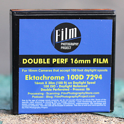 16mm Film - Double Perf - Color Reversal 100D - 100 ft