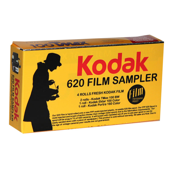 620 BASIC FILM - Kodak Film Sampler (4-Roll Box / BW - Color)