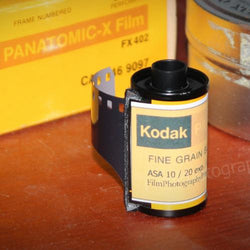 35mm BW Film - Kodak Panatomic X (Vintage Stock 1-Roll)