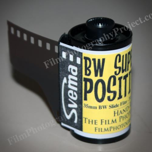 35mm BW Film - Svema Super Positive Film (1 Roll)