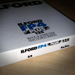 4X5 SHEET FILM - ILFORD FP4 (25 SHEETS)