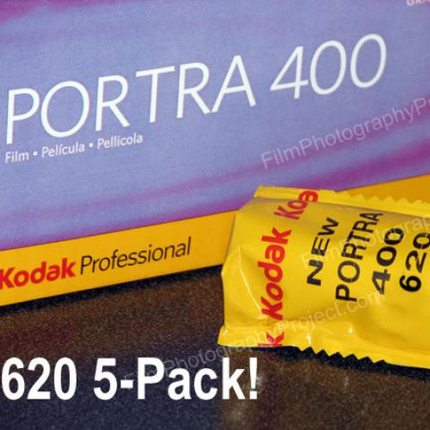 620 Color Film - Kodak Portra 400 (5-Pack)