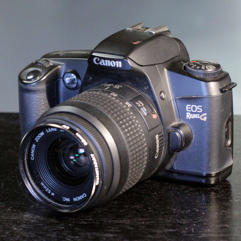 35mm Film Camera - Canon EOS Rebel G SLR w/ Built-In Flash (Vintage)