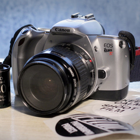 35mm Film Camera - Canon EOS Ti SLR + Speedlite Flash (Vintage)