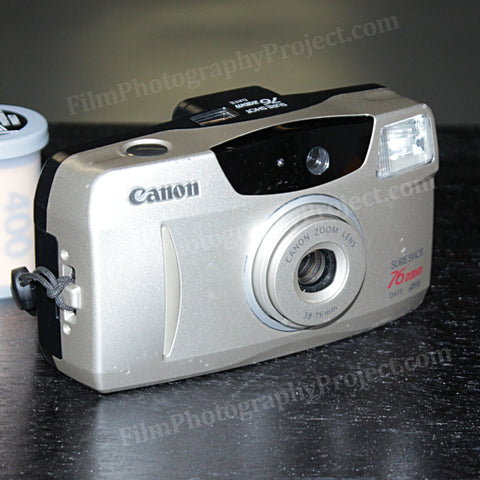 35mm Film Camera - Canon Sure Shot 76 Zoom (Silver Vintage)