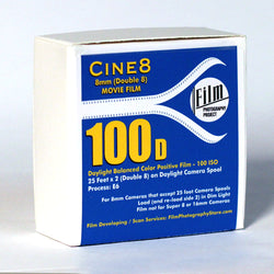 Double 8 Film - Cine8 Color Reversal 100d - (25 ft - 100 ISO)