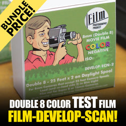 Double 8 Film - BUNDLE - Film / Develop / Scan - Color TEST FILM (25 FT)