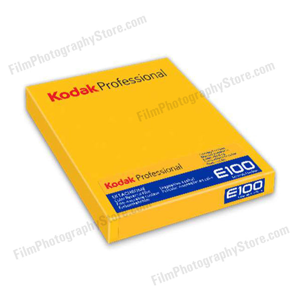4x5 Sheet Film - Kodak Ektachrome E100 (10 Sheet Box)