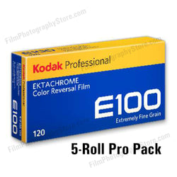 120 Color Slide Film - Kodak Ektachrome E100 (5-Pack)