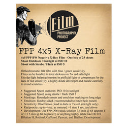 4x5 Sheet Film - FPP BW Negative X-Ray Film (25 Sheets)