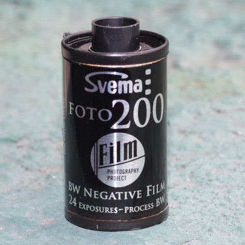 35mm BW Film - Svema Foto 200 (1 Roll)