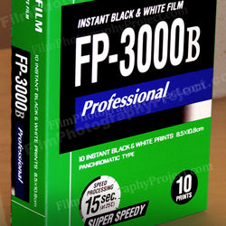 Polaroid Type 100 Pack Film - FP-3000b (bw - 1 Pack)
