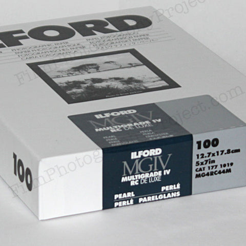 Paper - 5x7 Ilford Multigrade IV RC Pearl DeLuxe (100 Sheets)