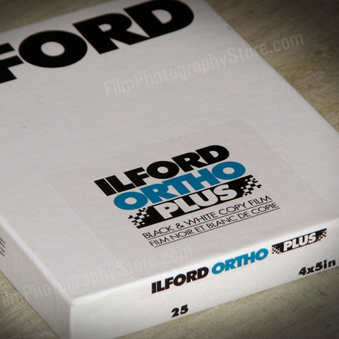 4x5 Sheet Film - Ilford Ortho Plus BW Negative Film (25 Sheets)