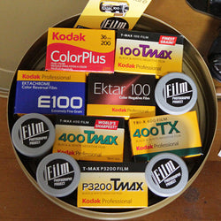 35mm Film - Kodak Film Gift Sampler in a Kodak Can (DELUXE)