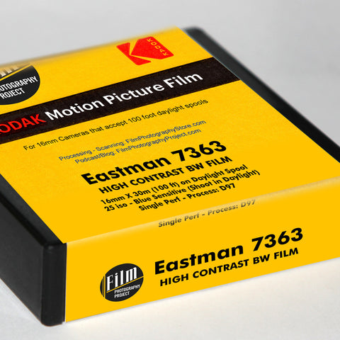 16mm Film - Single Perf - Kodak High Contrast 7363 - 100 ft