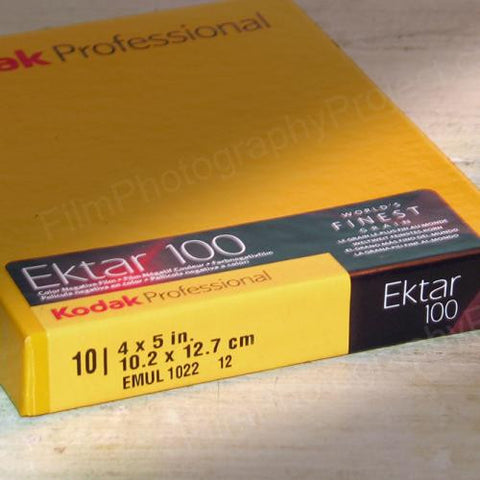 4x5 Sheet Film - Kodak Ektar 100 (10 Sheet Box)