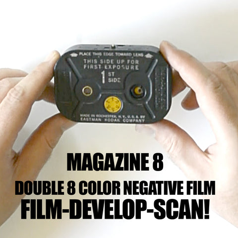 Double 8 Film - Magazine 8 BUNDLE - Film / Develop / Scan (Special Order)