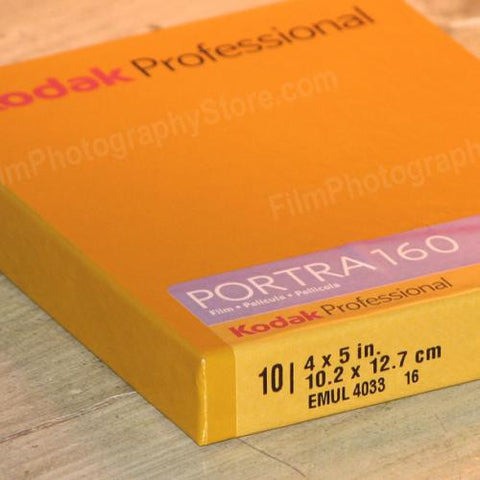 4x5 Sheet Film - Kodak Portra 160 (10 Sheets)