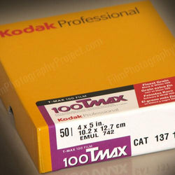 4x5 Sheet Film - Kodak TMax 100 (50 Sheet Box)