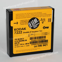 16mm Film - Single Perf Fresh - Kodak Double-X 7222 - 100 ft