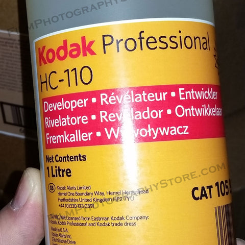 Darkroom Supplies - Kodak HC-110 BW Developer (1 Liter Concentrate)