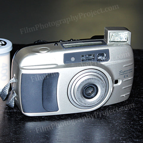 35mm Film Camera - Minolta Explorer Freedom Zoom EX Wide (Silver Vintage)
