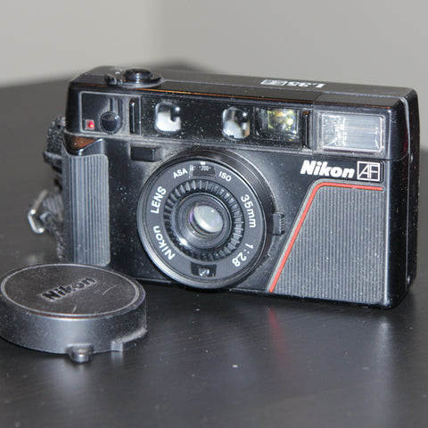 35mm Film Camera - Nikon L35AF (Black Vintage)