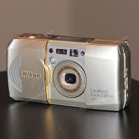 35mm Film Camera - Nikon Lite Touch Zoom 120 ED (Silver Vintage)