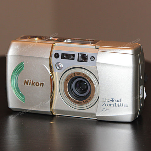 35mm Film Camera - Nikon Lite Touch Zoom 140 ED (Silver Vintage)