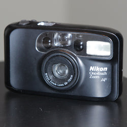 35mm Film Camera - Nikon One Touch Zoom 70 AF (Black Vintage)