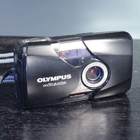 35mm Film Camera - Olympus Stylus Epic Mju-II (Black - Vintage)